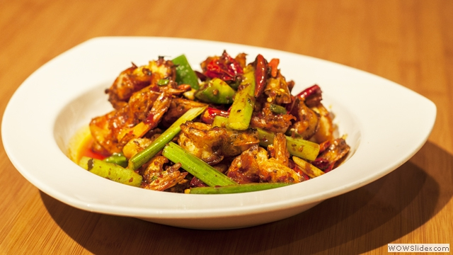 Shrimp Stir Fried with Dried Red Pepper